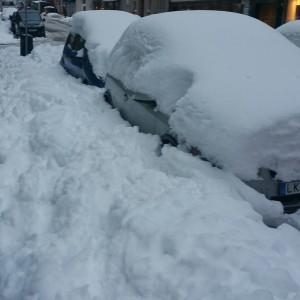 snö bilparkering
